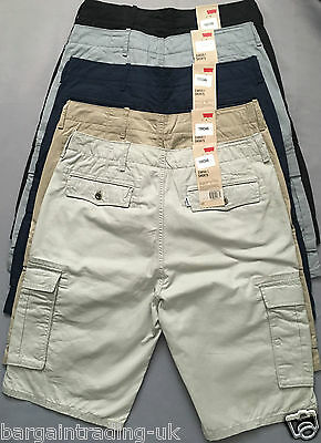 Levi's Cargo Mens Shorts %100 Genuine 6-Pocket Pure Cotton Herringbone Shorts