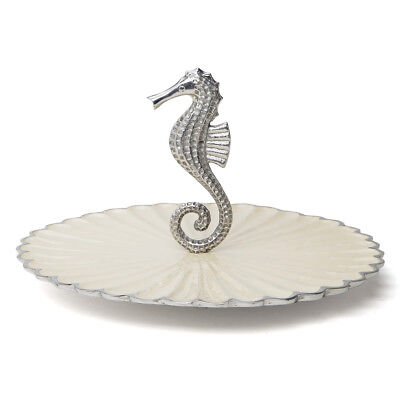 NEW Julia Knight By the Sea Seahorse Snow Handled Server