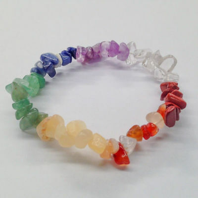 Gemstone Bracelet Chakra Crystal Chip Beads Stretch Healing Meditation
