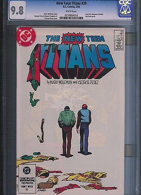 New Teen Titans # 39 CGC 9.8 White Pages. UnRestored