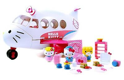 Hello Kitty 2 Friends Jet Plane Play Set Fun Game Toys 20 Pieces Accessories