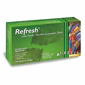 Aurelia Refresh Mint Scented Powder Free Latex Gloves - Small - Pack Of 100