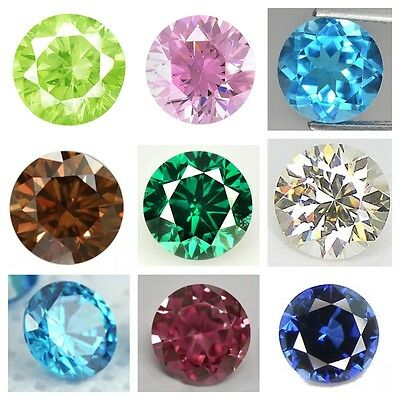 Cubic Zirconia Special Colors Round AAA Multi-Color CZ Loose Stones (1mm - 10mm)