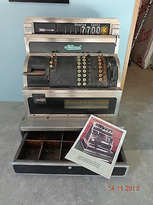 ¡¡¡ Caja Registradora National Cash Register De 1930 Con Catalogo !!!