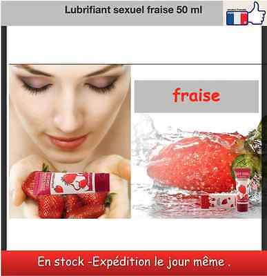 Lubrifiant anal oral vaginal homme femme couple fraise gel intime 50 ml