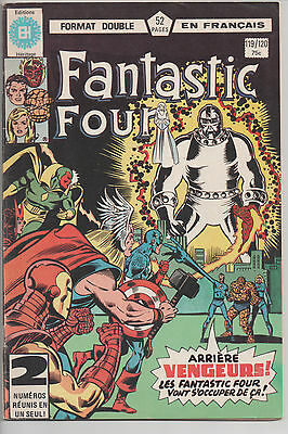 FANTASTIC FOUR #119/120 french comic français EDITIONS HERITAGE