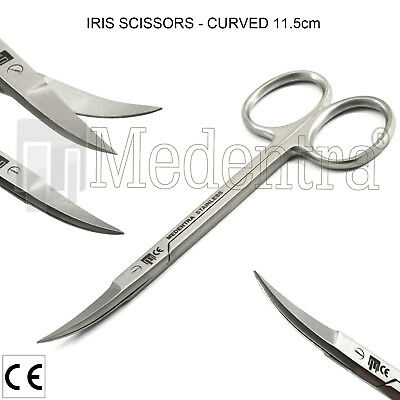 Dental Surgical Iris Curved Gum Scissors For Trimming Tissues Lab Tools New