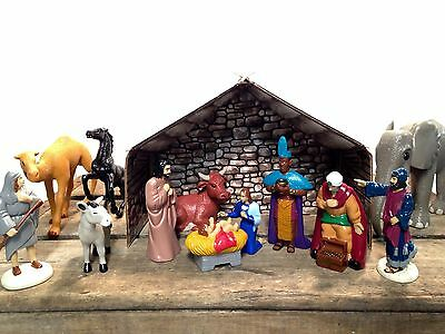 Nativity Scene 'Footsteps to Follow' Christian Soldiers Inc Complete Deluxe Set