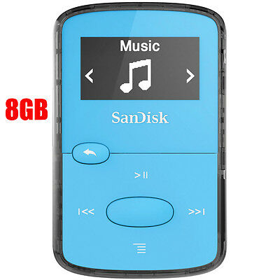 SanDisk Clip Jam Blue MP3, 8GB Digital Media Player – NEW in sealed retail box