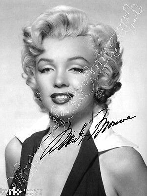 MARILYN MONROE - print signed photo - foto con autografo stampato