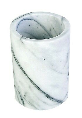 Beautiful Durable White Marble Kitchen Utensil Holder Easy Reach When Cooking