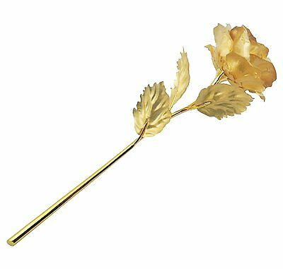 Unique 24k Gold Dipped Artificial Rose Flowers 10 Long Stem Best Love Gift