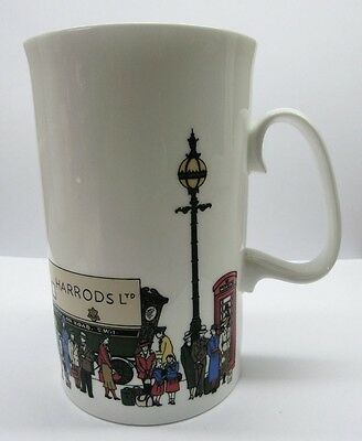 Harrods Department Store Moving Truck Coffee Mug Fine Bone China Made In England