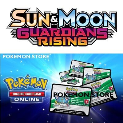 25 Guardians Rising Codes Pokemon Sun & Moon TCG Online Booster EMAILED FAST!