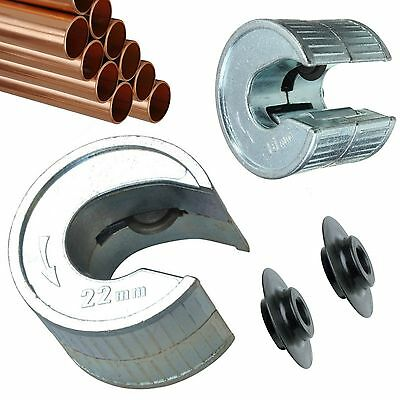 15mm 22mm Pipe Slice Tube Cutter 2 x Extra Rotary Blades Pipeslice Copper Pipes