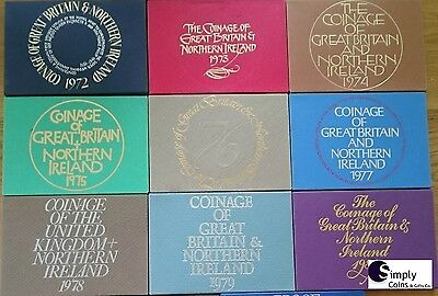 Coin Year Sets 1970 to 1982 - Royal Mint Uncirculated BIRTHDAYs, ANNIVERSARY