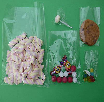 Clear cellophane cello wedding favour sweets party cake pops display cookie bags
