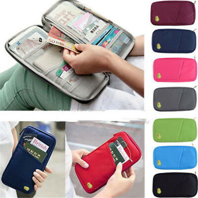 Travel Tour Passport Credit ID Card Cash Wallet Purse Holder Case Document Bag
