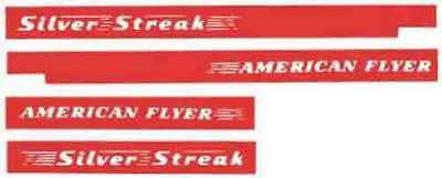 SILVER STREAK DIESEL WATER SETTING DECAL SET for American Flyer S Gauge Trains