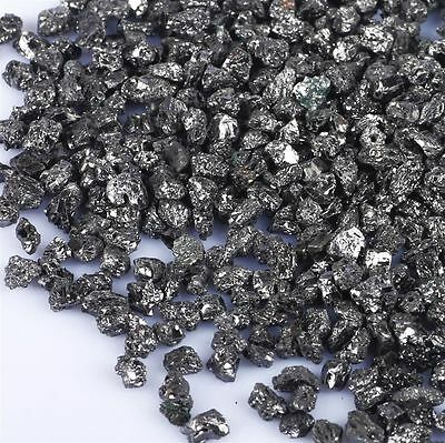25.00 Cts Undrilled Uncut Shiny Black Diamond Small Tiny Roughs Lot @ Buy It Now