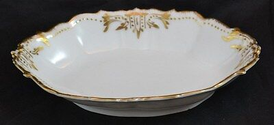 Limoges Small Relish Dish Double Gold Trim Old Mark