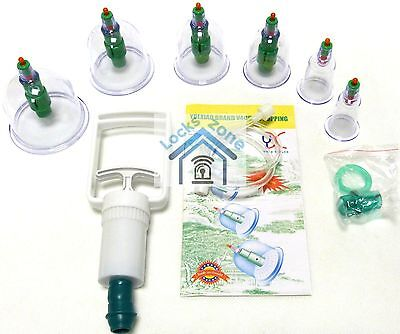 6 High Quality Cups & Pump Vacuum Dry&wet Cupping Set Acupuncture Hijama Chinese