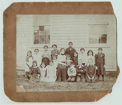 RARE Orig Photo 1880s Cattaraugus Indian Reservation School ID'd Students Thorpe