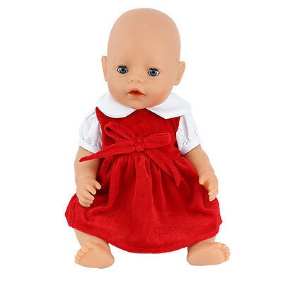 red dress Doll Clothes Wearfor 43cm Baby Born zapf (only sell clothes )