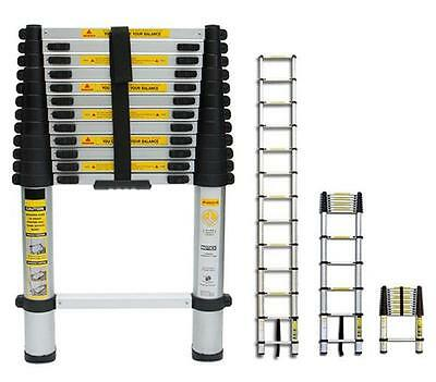 New 4.1M Telescopic Aluminium Folding Multi Purpose Extending Step Ladder Dlt213
