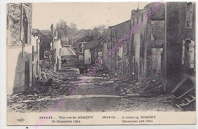 CPA 54610 NOMENY Une rue  24 Décembre 1914 Guerre 1914-15  A street in NOMENY