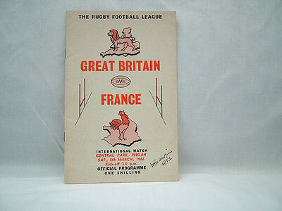 Rugby League Programme Great Britain v France 5th March 1966