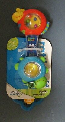 NEW Learning Curve Safety Tested Shakin' Shells Rattle with Bonus Link Age 3m+