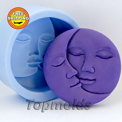 Face of the Moon Food-grade silicone soap Mold Silicone Mold Free Shipping