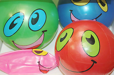 Smiley Face Beach Pool Ball Children Inflatable Plastic Kids Party Toys Gifts