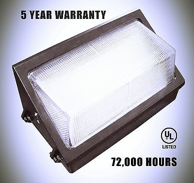 50 watt LED Wall Pack 5000K with LED Tech 5 Year Warranty Bright, Durable, NEW!