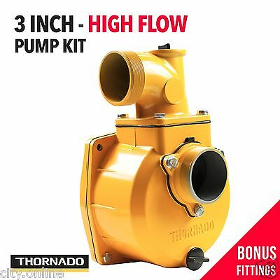 3 Inch High Flow Water Transfer Pump Kit Irrigation for Petrol / Diesel Engine