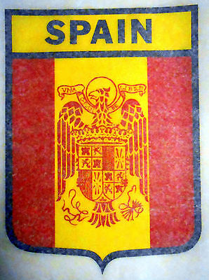 "Vintage 1974 Roach ""SPAIN"" Shield Design Iron-on Transfer"