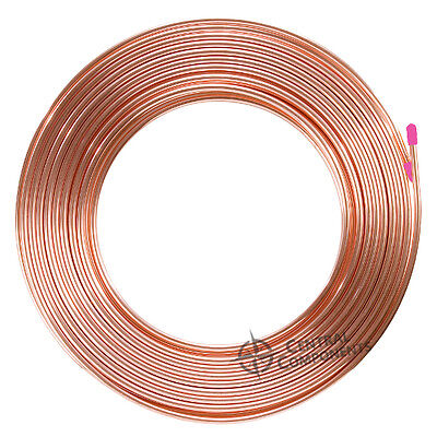 "Soft Drawn 1/4"" 6Mm Id, 30 Metre Roll (30M), Pancake Copper Tube Air Con Coil"