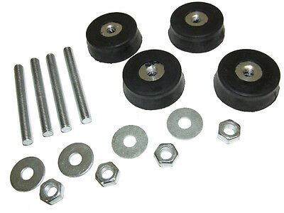 Air Conditioner Anti Vibration Damper Kit Rubber Feet 4 Pack Economy Pack