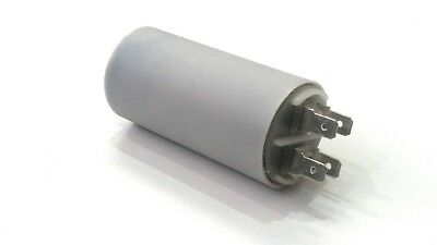 METAL ROUND RUN CAPACITOR 25µF 25UF 400-500V 4 TERMINALS AXIAL FAN