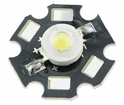 5 x White 1W High Power Star PCB LED 110lm