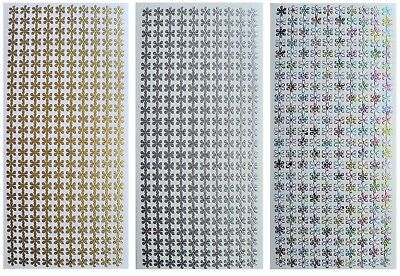 DAISY BORDERS Peel Off Stickers Card Making Daisy Chain Gold Silver White
