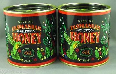 Tasmania's Finest Leatherwood Honey,  Twin Pack, 2 * 750gm tins. Free shipping.