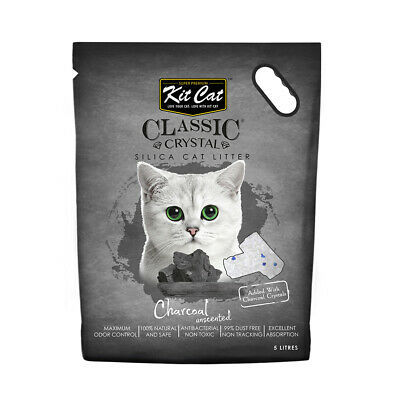 Kit Cat Litter Crystals - Charcoal with Change Indicator