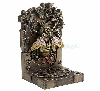Single Steampunk Bee Bookend Statue by Artist Brigid Ashwood