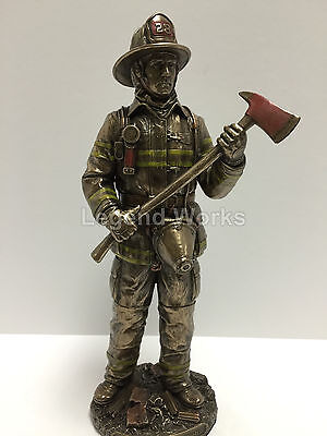 "Firefighter ""Be Proud, Be Brave, Be Prepared"" Figurine Statue Sculpture 911 Hero"