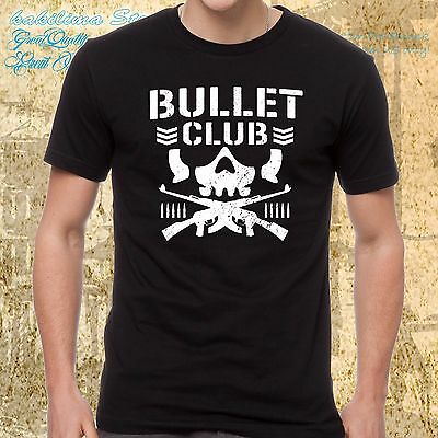 NEW JAPAN PRO WRESTLING NJPW BULLET CLUB Logo Mens T-shirt S to 4XLT