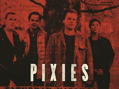 PIXIES Poster #3 - Red Band - 18x24 - Black Francis, Kim Deal, Frank Black, 4ad