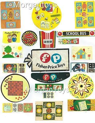 Vintage FISHER-PRICE ACCESSORIES REPLACEMENT LITHOS Little People Play Family