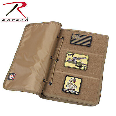 New Coyote Brown Hook and Loop Morale Patch Storage Book Rothco 90210